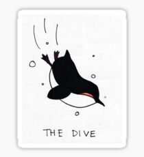 Penguin party: the dive Sticker