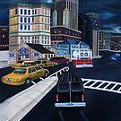 Gotham City Street Scene by Weshon  Hornsby