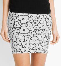 Popcorn Flower Field Light Grey Mini Skirt