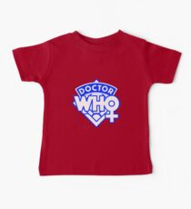 4th Doctor Logo with a Twist Kids Clothes