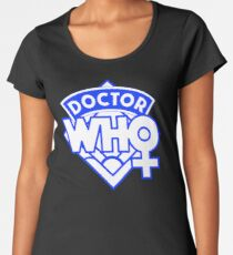 4th Doctor Logo with a Twist Women's Premium T-Shirt