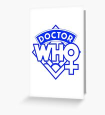 4th Doctor Logo with a Twist Greeting Card