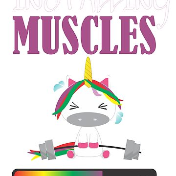 Installing Muscles - Funny unicorn gym by DBA-Dezines