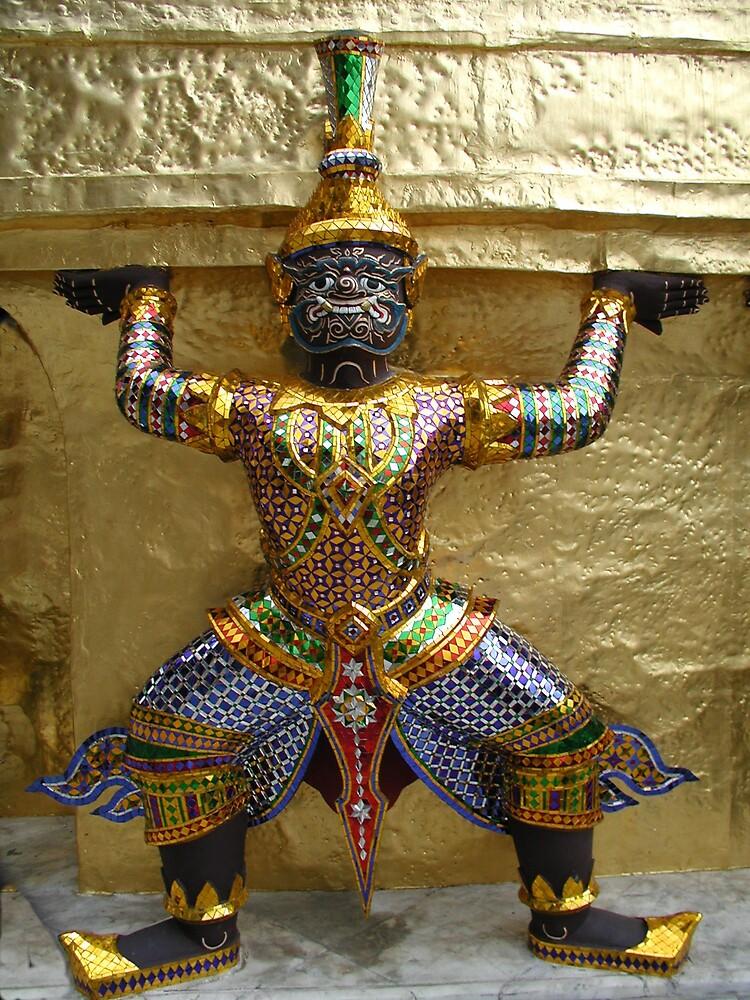 Thai Temple Figure 4 by Tom  Reynen
