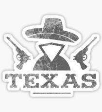 Texas Vintage Cowboy Outlaw logo Sticker