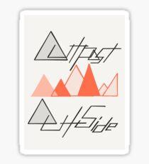 Outpost Outside  Sticker