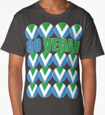 International Vegan Flag 2 Long T-Shirt