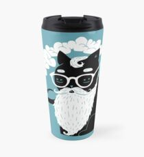 Whiskers And Pipe Travel Mug
