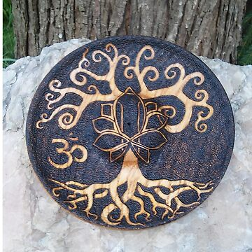 Tree of Life Pyrography  by daltval