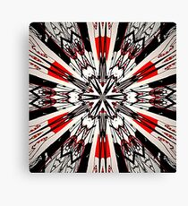 Red And Black Helping Hands Mandala Canvas Print