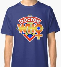4th Doctor Logo with a Twist (in Color) Classic T-Shirt
