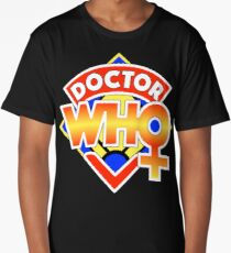 4th Doctor Logo with a Twist (in Color) Long T-Shirt