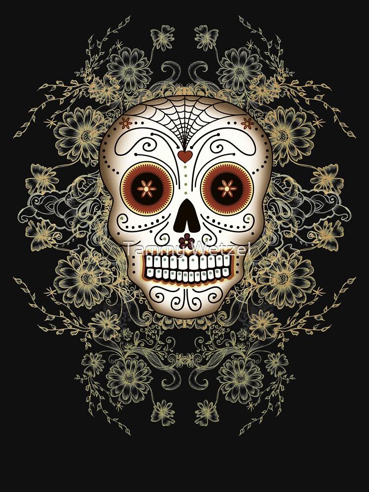 Vintage Sugar Skull   Unisex T-Shirt