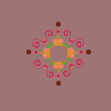 Flower swirl pattern  by cduby