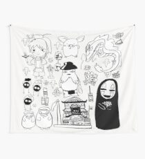 Spirit Away Characters Wall Tapestry