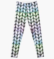 Chunky Lavender Forest Knit Leggings