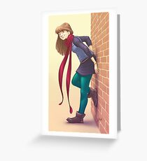 Geeky Character Design Greeting Card