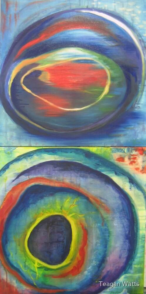 wrasse eye and trumpetfish eye by Teagan Watts