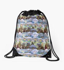 Bakurae Collage Drawstring Bag