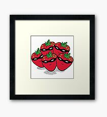 The Strawberry Thieves band logo large Framed Print