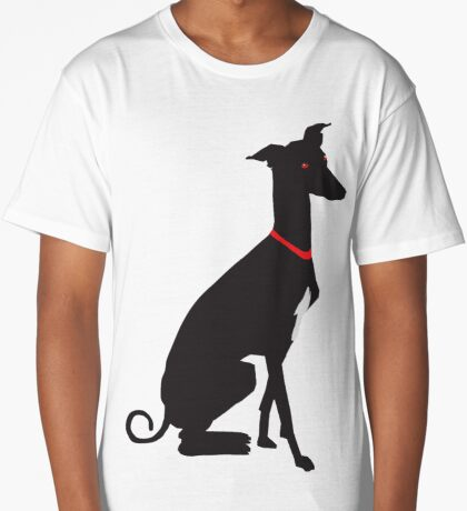 greyhound (vector) Long T-Shirt
