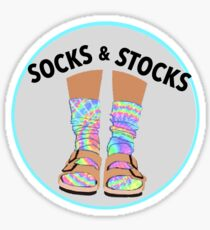 Birkenstocks Tie Dye Socks and Stocks  Sticker