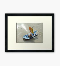 A toy made by a 4 year old girl - Why Barbie dolls??? Framed Print