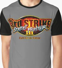 Street Fighter III: 3rd Strike - Fight for the Future logo Graphic T-Shirt