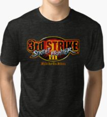 Street Fighter III: 3rd Strike - Fight for the Future logo Tri-blend T-Shirt
