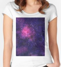 Seamless space background. Women's Fitted Scoop T-Shirt
