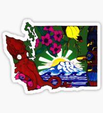Washington State Symbols  Sticker