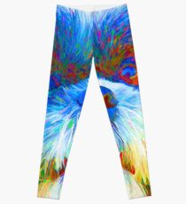 Colorful Shih Tzu Abstract Leggings