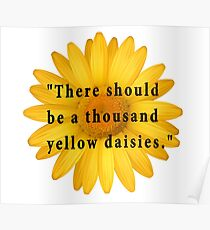 There Should Be One Thousand Yellow Daisies  Poster