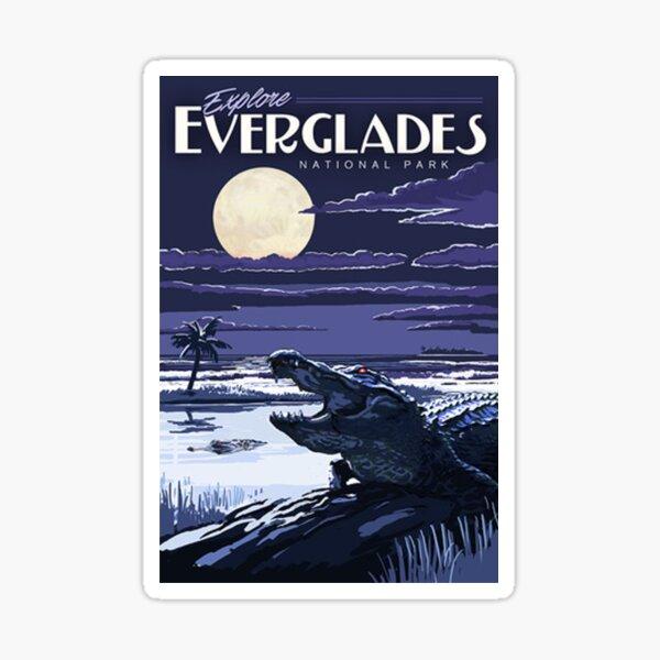 Everglades National Park at Night Vintage Travel Decal Sticker Sticker