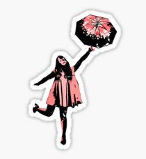 Pink Umbrella  Sticker