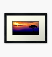 Sunset Over Masai Mara, Kenya III Framed Print