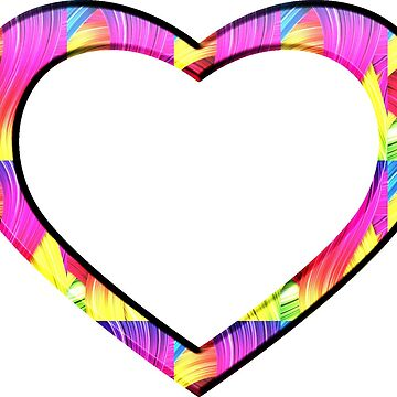 Cool Colorful Rainbow Colored Heart by Suzeology