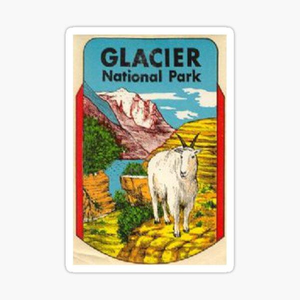 Glacier National Park Badge Vintage Travel Decal Montana Sticker
