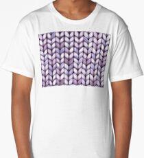 Chunky Lilac Knit Long T-Shirt