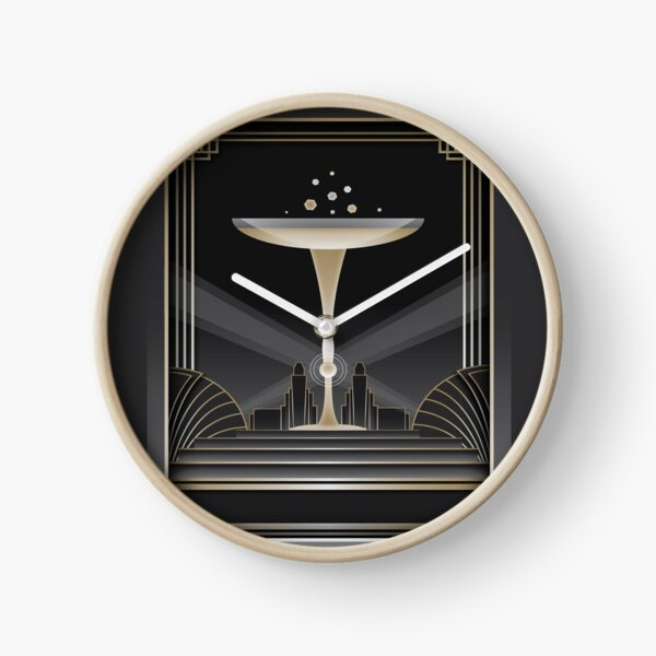 Art déco design VI Horloge