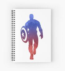 Hero Inspired Silhouette Spiral Notebook