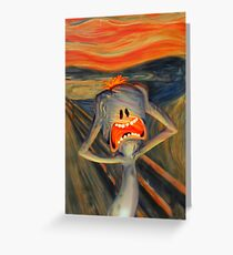 meeseeks the scream rick and morty Greeting Card