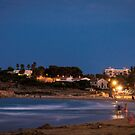 The beach at night by JEZ22
