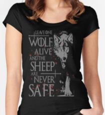 Thrones wolf t-shirt best quote Women's Fitted Scoop T-Shirt