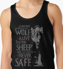 Thrones wolf t-shirt best quote Tank Top
