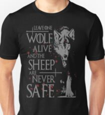Thrones wolf t-shirt best quote Unisex T-Shirt