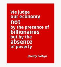 Jeremy Corbyn - Economy  Photographic Print