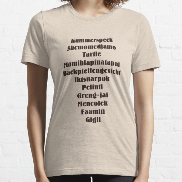 Untranslatable Words Essential T-Shirt