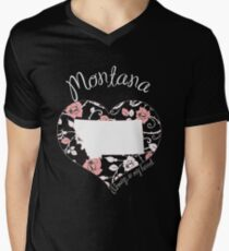 Montana - Always In My Heart (Pastel Color Version) Men's V-Neck T-Shirt