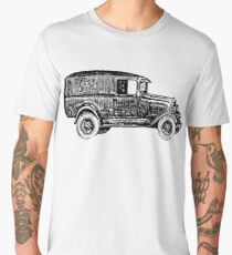 Old Vintage Antique Car Drawing #9 Men's Premium T-Shirt
